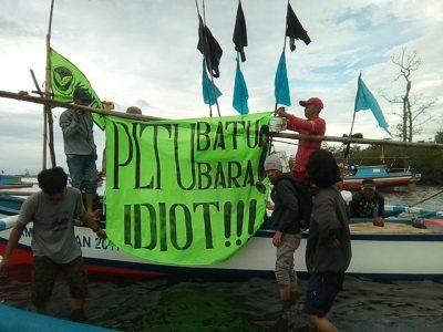 Aksi Tolak PLTU batu bara