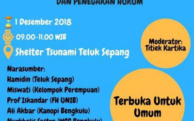 Kuliah Bersama Rakyat, Telaah PLTU Batu Bara Teluk Sepang