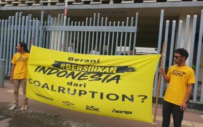 Aktivis serukan bersihkan Indonesia dari korupsi batu bara