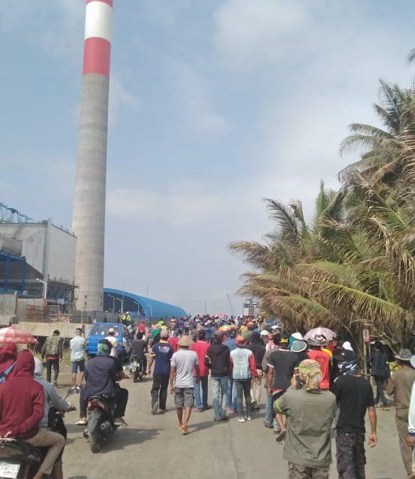 Di Cilacap, warga mendatangi PLTU batu bara protes dampak pencemaran